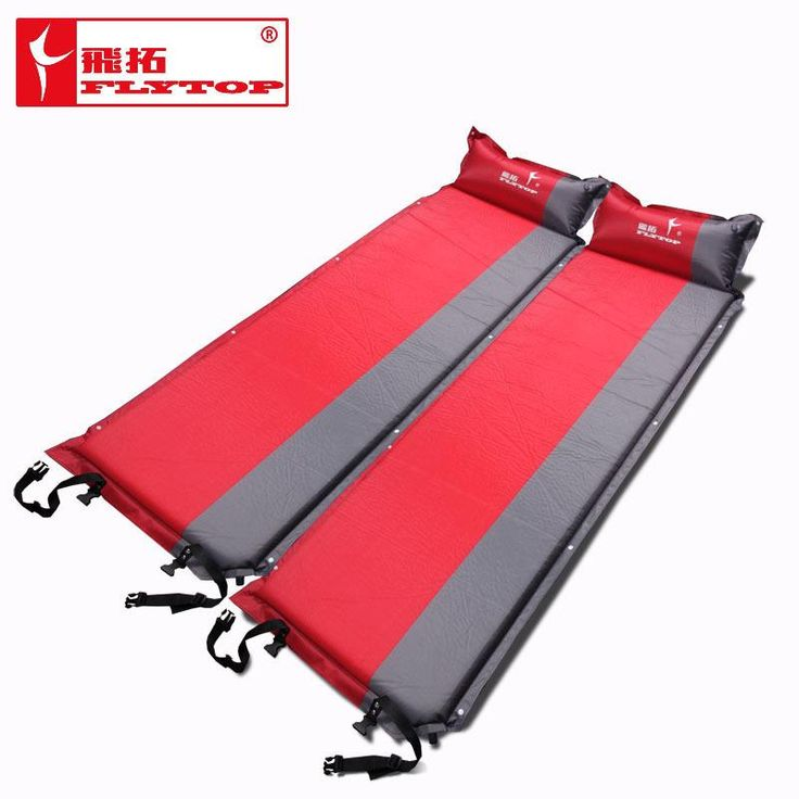 2017 Hot sale (170+25)*65*5cm single person automatic inflatable mattress outdoor camping fishing beach mat on sale/ wholesale
