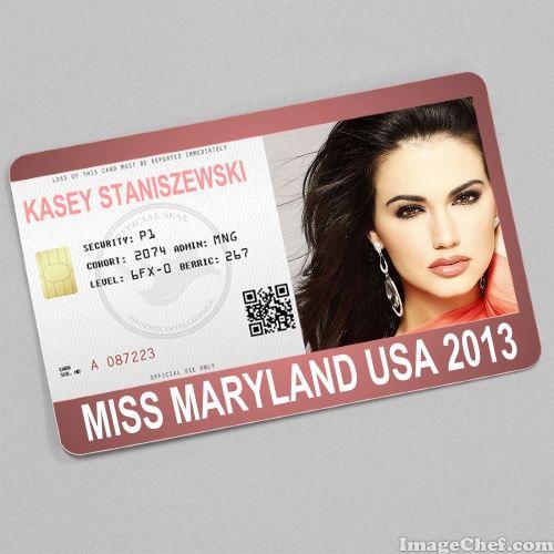 Kasey Staniszewski Miss Maryland USA 2013 card