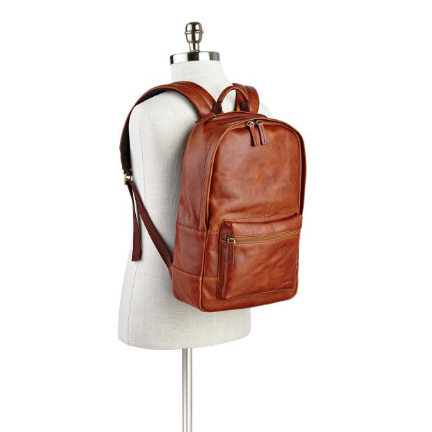 Estate Casual Leather Backpack | Fossil