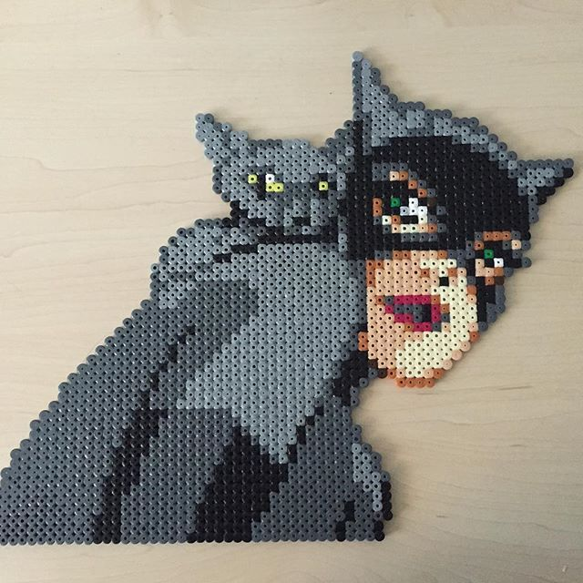 Catwoman hama perler beads by Sandra Skov