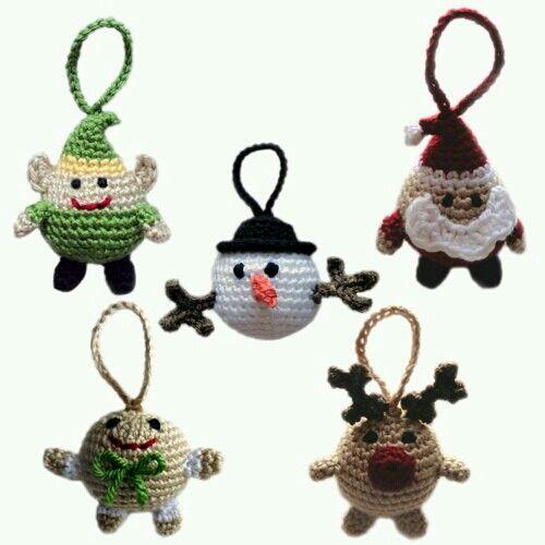 adornos navideos en crochet crochet christmas ornaments