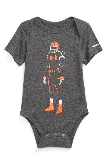 Under Armour 'Football Glow' HeatGear® Bodysuit (Baby Boys) available at #Nordstrom
