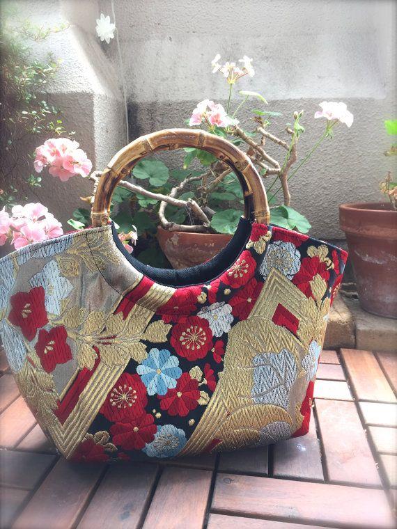 Obi / Kimono / Bag / BK889 Gorgeous Flower by RummyHandmade