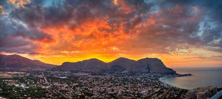 Burning Sicilian Sunset by Viacheslav Savitskiy on 500px