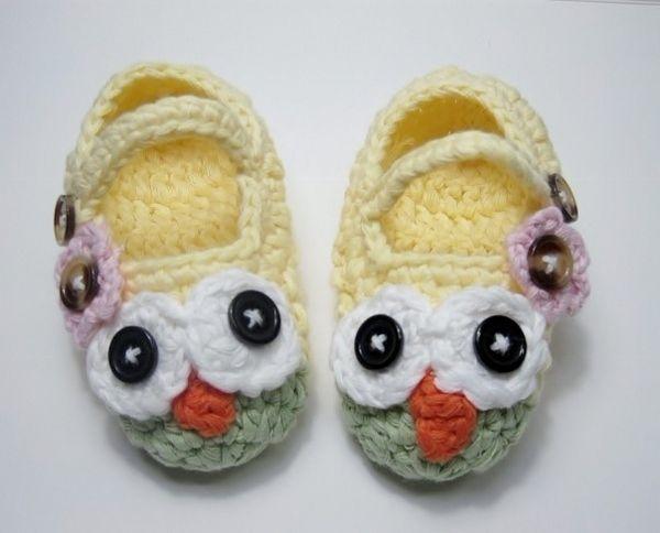 Yellow & Seafoam Green Owl w/Flower-