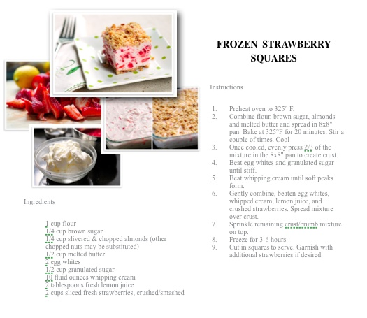Frozen Strawberry Squares | Please Sir, Can I Have Some More? | Pinte ...
