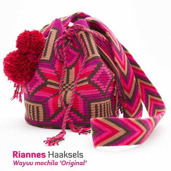 Met mochila haken haak je de mooiste figuren in alle kleuren van de regenboog. Je kan er bijvoorbeeld een haaknaaldenetui mee maken of een gave tas.