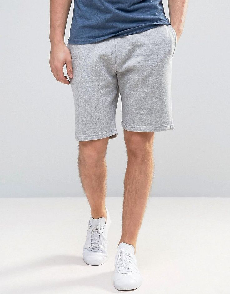 New Look Jersey Shorts In Gray - Gray