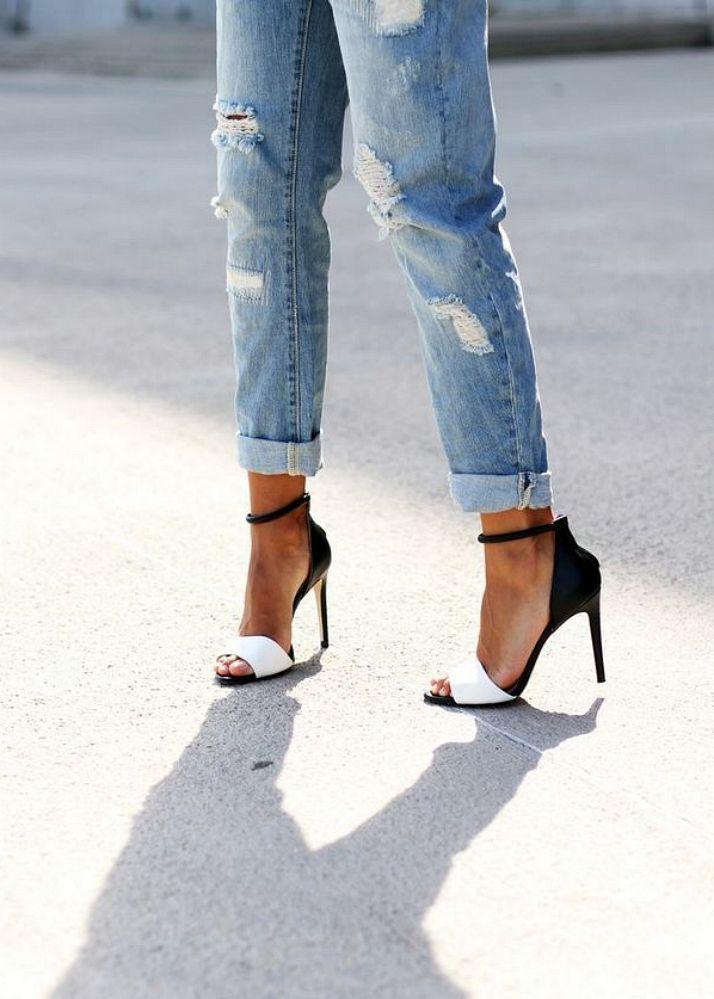 Spring Trend: Boyfriend Jeans + Heels