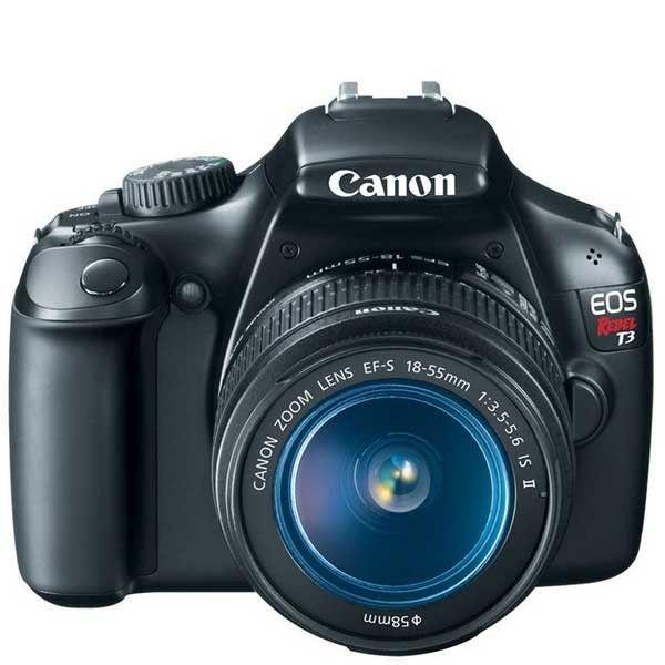 Canon EOS Rebel T3 DSLR Camera w/ 18-55mm IS II Lens 5157B002 #Canon