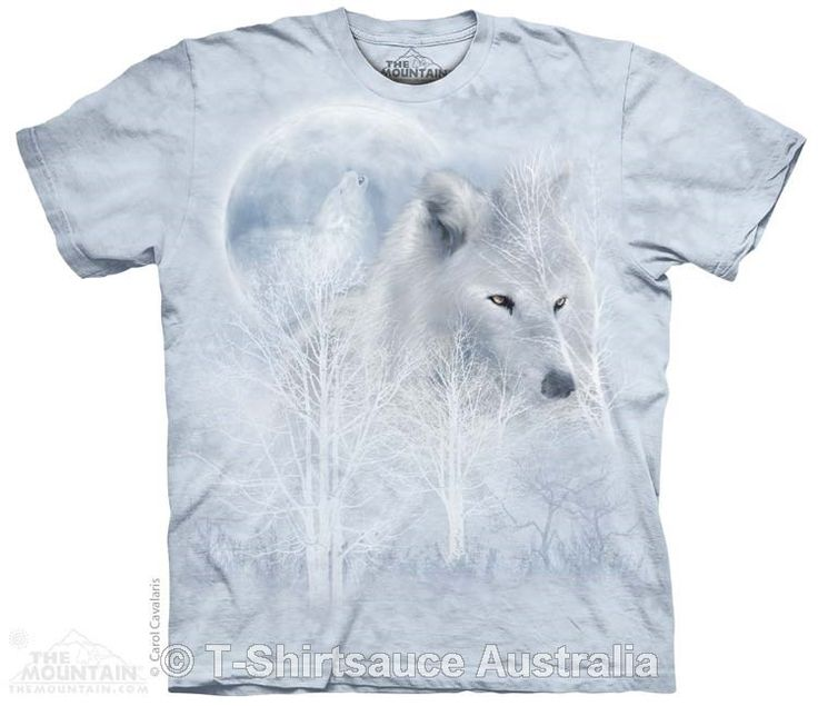 White Wolf Moon Adults T-Shirt