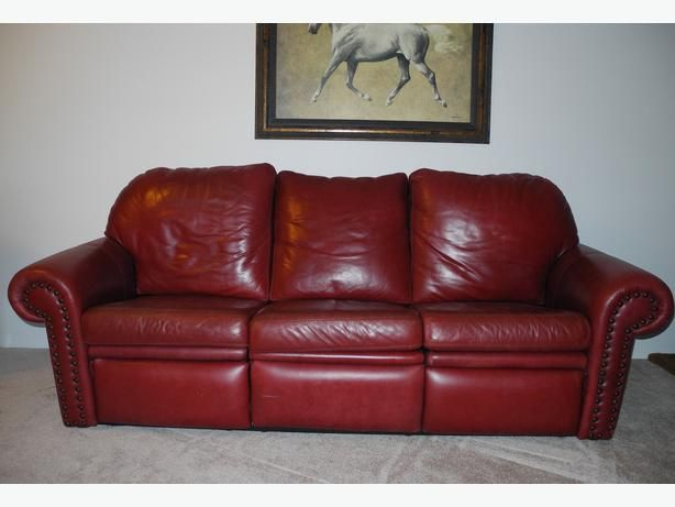 2 Leather Sofa Couch Hideabed Lazyboy