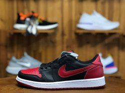 c53e35679c3e67 Newest Air Jordan 1 Retro Low OG AJ1 Bred Black SAIL Varsity Red 705329 001  Mens Womens Basketball Shoes