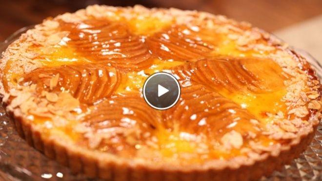 Tarte Bourdaloue - peren frangipane taartjes