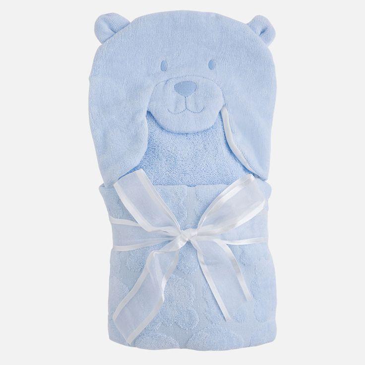 Mayoral Erkek Bebek Kışlık Jakarlı Banyo Havlusu Açık Mavi
