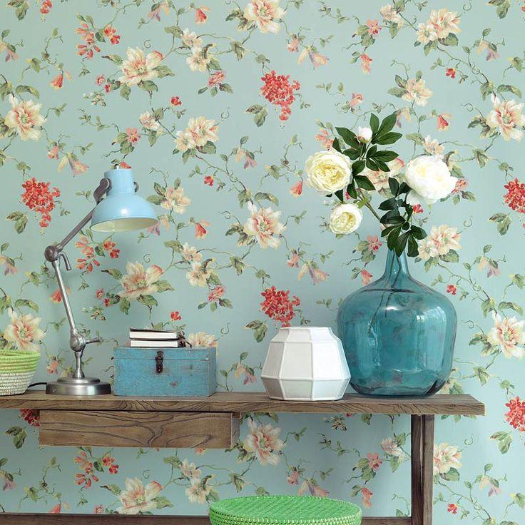 156 best behang blauw images on pinterest, Deco ideeën