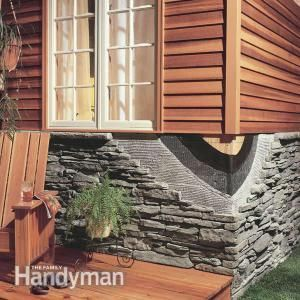 How to Install Stone Facing | Step-by-step instructions and pictures for how to install stone facing. Read more: http://www.familyhandyman.com/masonry/how-to-install-stone-facing/view-all