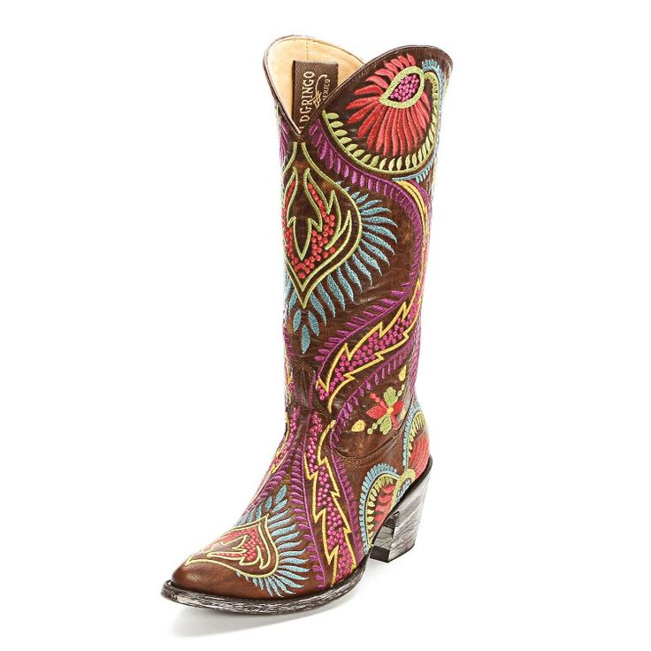 Old Gringo Brass Tiegan Embroidered Cowgirl Boots