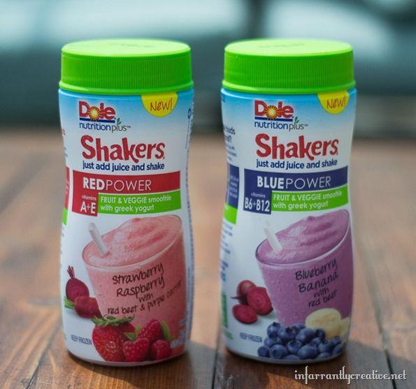DOLE Nutrition Plus Fruit & Veggies POWER Smoothie Shakers