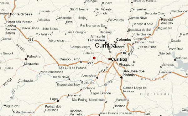 Curitiba Map - http://travelsfinders.com/curitiba-map.html