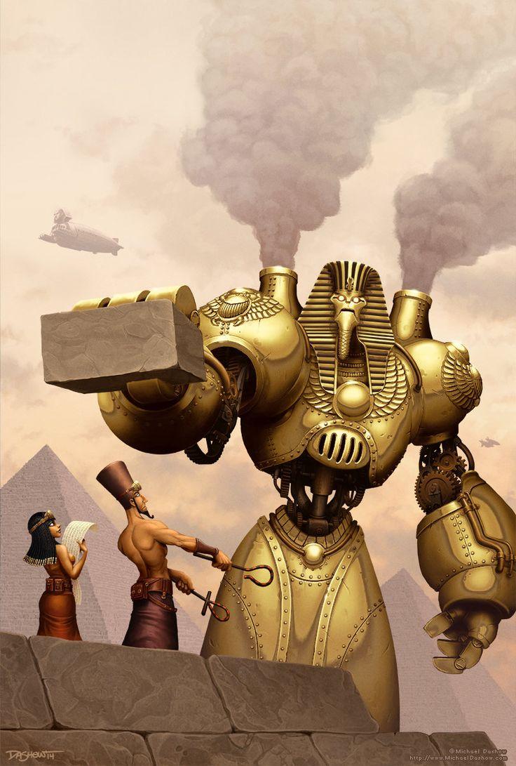 Pharoahbot, Michael Dashow on ArtStation at https://www.artstation.com/artwork/pharoahbot. #steampunk #victorian #gosstudio  . (Best Gifts online: http://www.zazzle.com/vintagestylestudio)