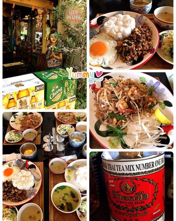 おはようございます�� 一昨日は小学校のママ友4人でランチしました������ 泰式茶が無料でしたが、さっぱりして美味しかったです������ Have a nice day�� #thailand  #thai #thaifood #thaicuisine #thailunch #gapao #phattai #greencurry #タイ #タイ料理 #ガパオ #グリーンカレー #パッタイ #泰式茶 #おひるごはん #あさごはん #タイランチ http://w3food.com/ipost/1521264375187527380/?code=BUcneOkglbU
