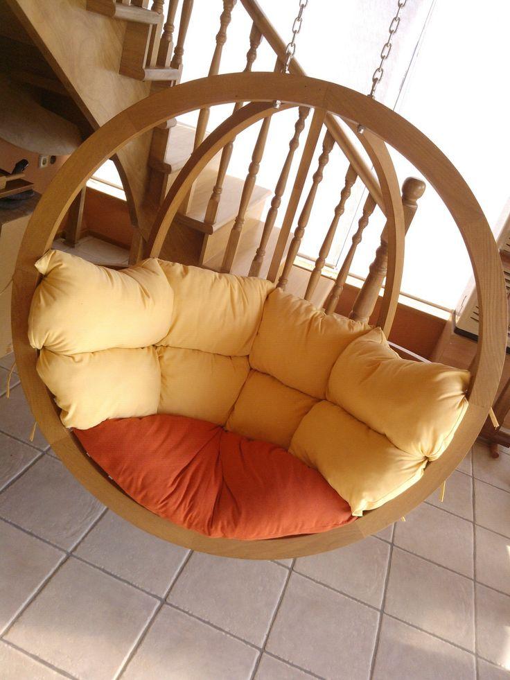 Wooden Hammock   Hanging Chair #Xyloskal #madeinakova #Chair #Hammock
