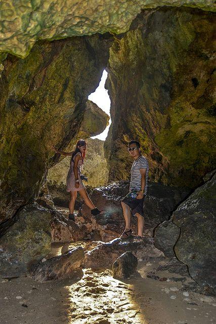 Suluban Beach And Caves, at the Blue Point Uluwatu, Bali.