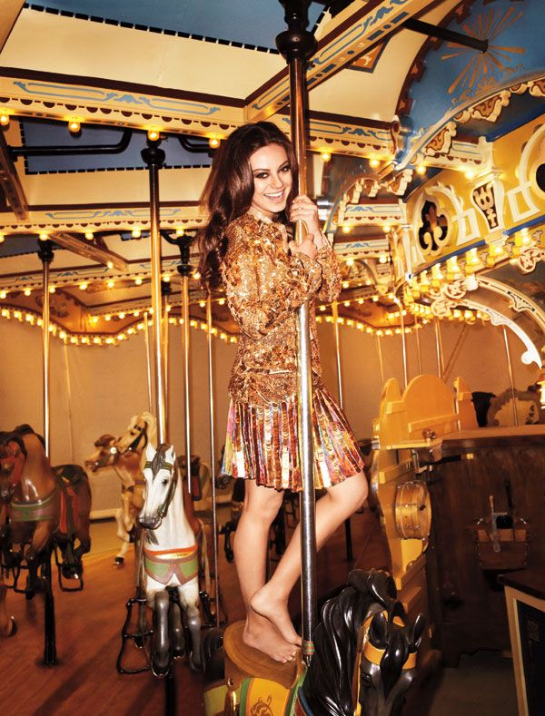 Mila Kunis by Terry Richardson for latest issue of Harpers Bazaar