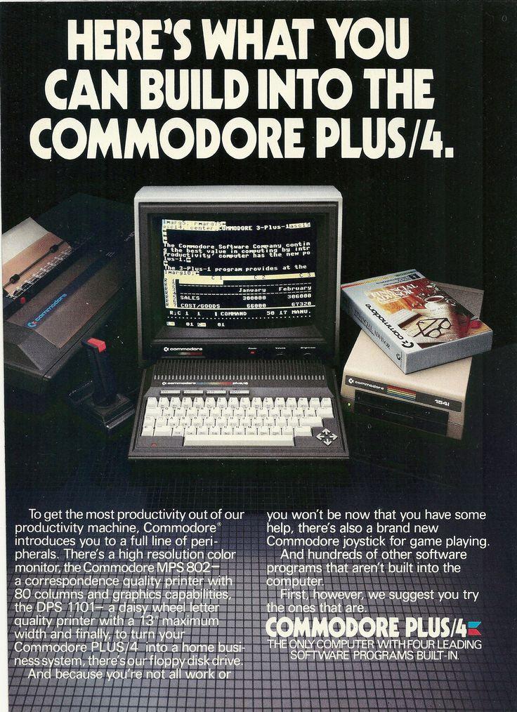1984 Commodore Plus 4 Computer Vintage Print Ad