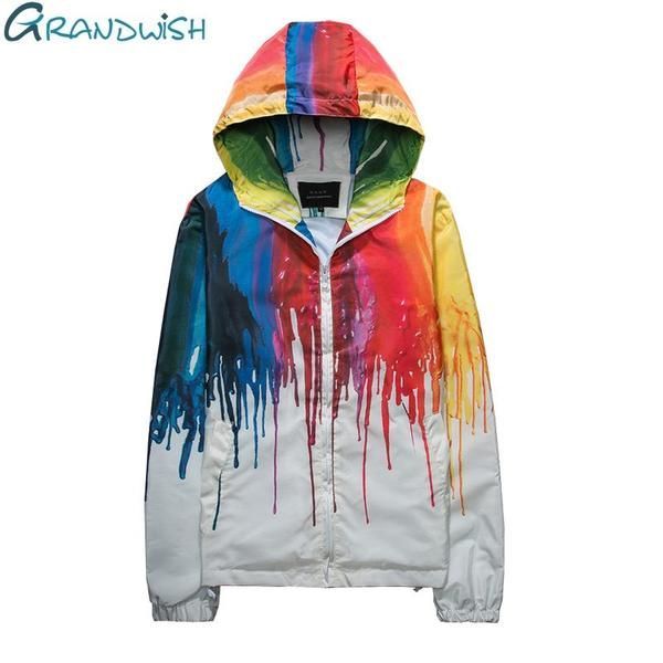 Grandwish Colorful Hooded Windbreaker Jacket Women Men Plus Size 4Xl Mens Jackets And Coats Hip Pop Clothes Male Female Da579 13