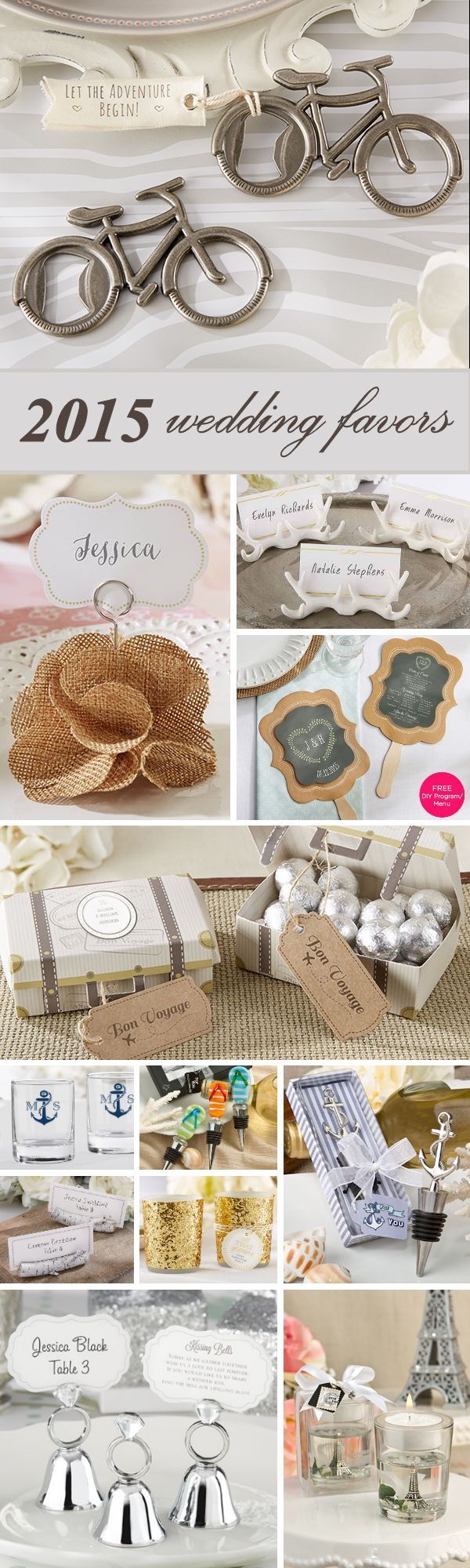 Now Trending - the 20 Most Popular New Wedding Favors for 2015.   Give favors your guests will love!