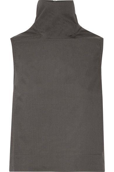Dark-gray cotton-poplin Zip fastening along back 100% cotton Hand wash Made in Italy