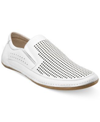 Sharpen your casual style with these perforated slip-on shoes from Stacy Adams. | PU upper/sole | Imported | Stacy Adams men's slip-on shoes | Plain toe | Perforated detailing | Web ID:1255662