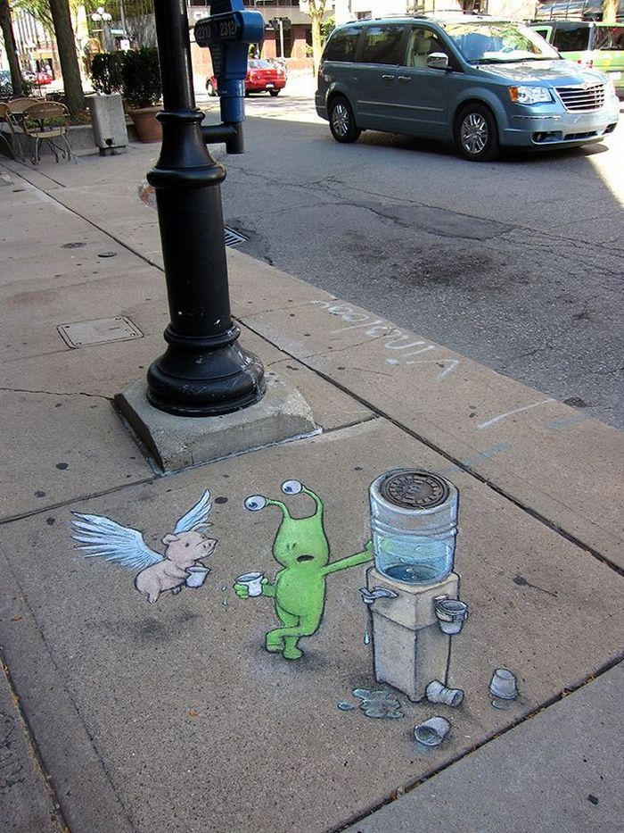 David Zinn - Sluggo on the Street | DerTypvonNebenan.de