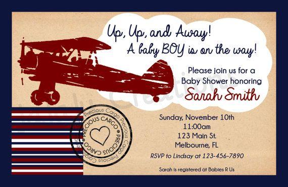 airplane baby shower invitation printable baby shower invitation