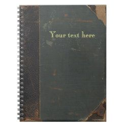 Retro antique canvas book cover, leather bound note books