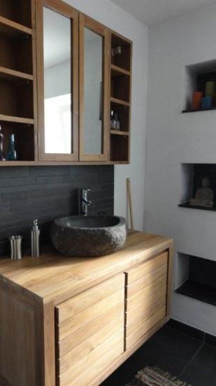 Prachtig teakhouten badkamermeubel van het merk Djati. Door DjatiLifestyle