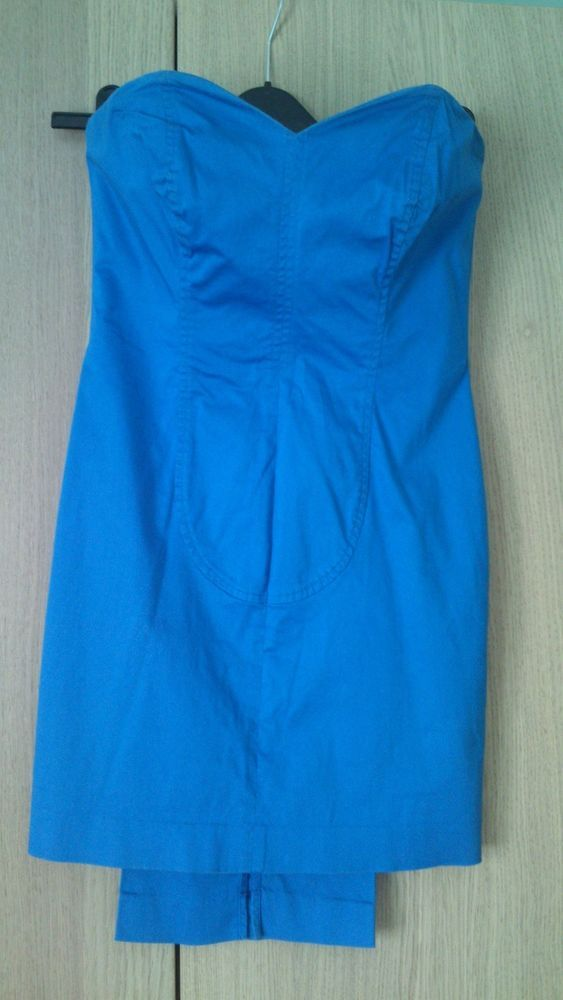 Womens Elecrtric Blue Love Heart Boned Fitted Bodycon Dress UK 8 Glam By Caprice