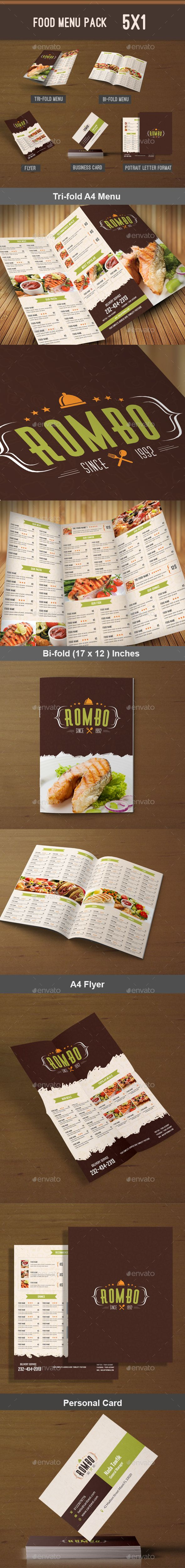 Food Menu Pack Template PSD #design Download: http://graphicriver.net/item/food-menu-pack-1/13638517?ref=ksioks