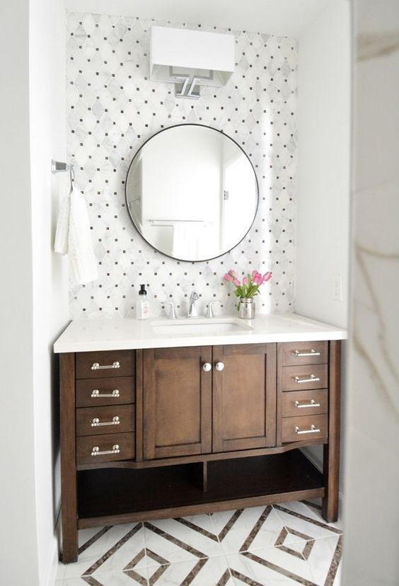 Best 25+ Bathroom accent wall ideas on Pinterest | Half ...