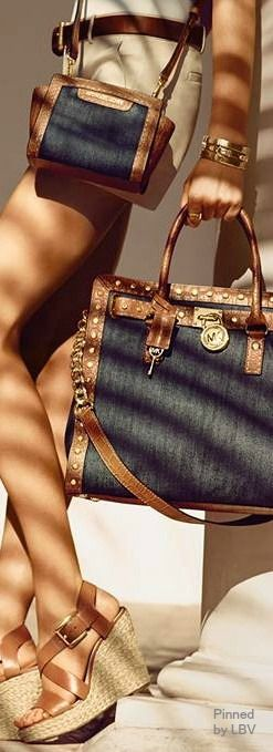 Michael Kors | LBV ♥✤ I got the little cross body for my BDay and LOVE it!