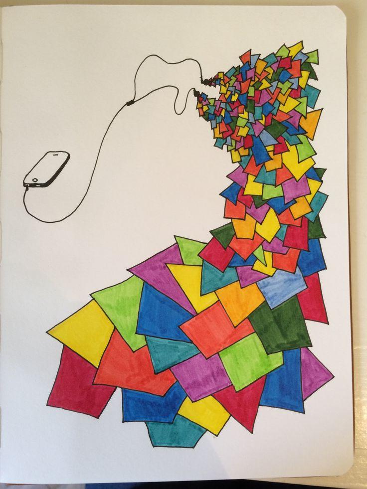 Música despiezada - dibujo Veronica Reynal