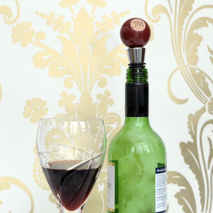 Personalised Wine Bottle Stopper   Personalised gift for wine lover