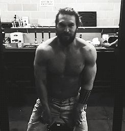 Jason Momoa fan — galgadots:   jason momoa training for justice...