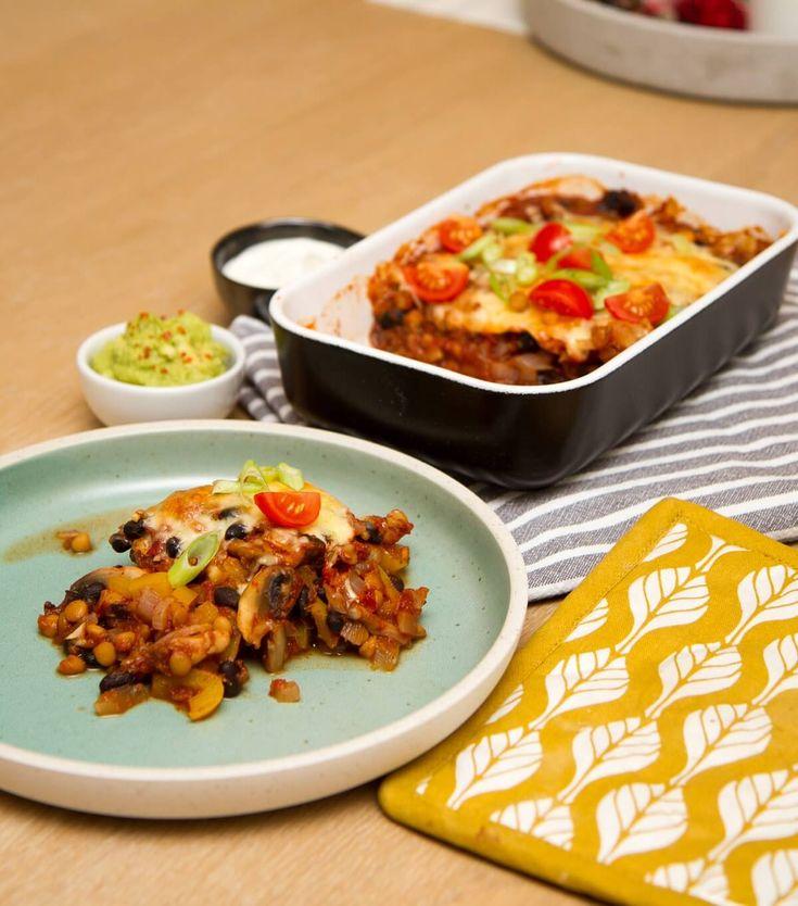 Kjøttfri tacograteng med linser og bønner
