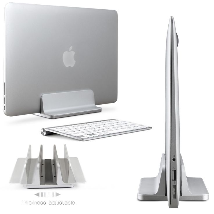 Aluminum Vertical Laptop Stand Thickness Adjustable Desktop NoteBooks Holder Erected Space-saving Stand for MacBook Pro / Air   Tag a friend who would love this!   FREE Shipping Worldwide   Buy one here---> https://zagasgadgets.com/aluminum-vertical-laptop-stand-thickness-adjustable-desktop-notebooks-holder-erected-space-saving-stand-for-macbook-pro-air/