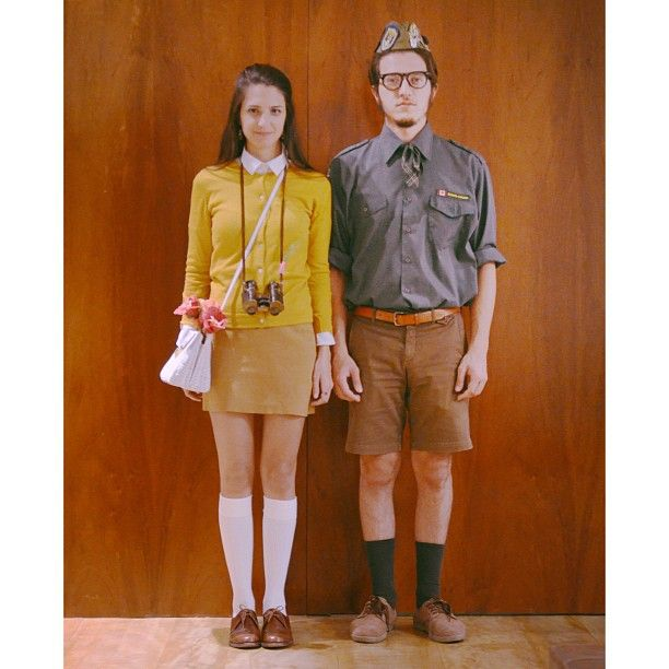 Pin for Later: 93 Creative Couples Costume Ideas Suzy and Sam From Moonrise Kingdom