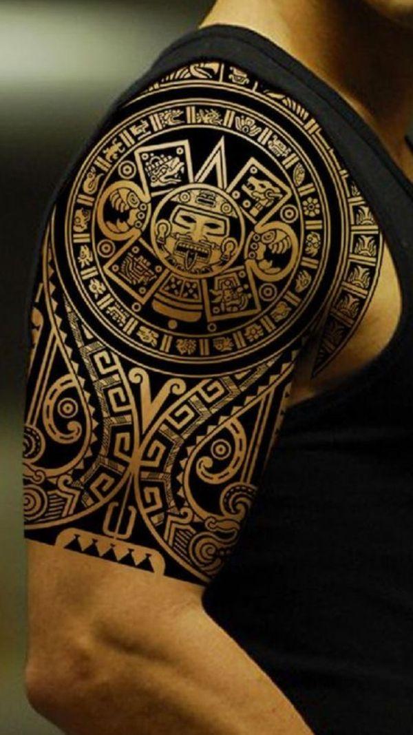 Aztec Shoulder Tattoo : aztec, shoulder, tattoo, Diseños, Tatuajes, Maoríes, Significativos, Inspiración, Maori, Tattoo,, Tribal, Shoulder, Tattoos,, Aztec, Tattoos