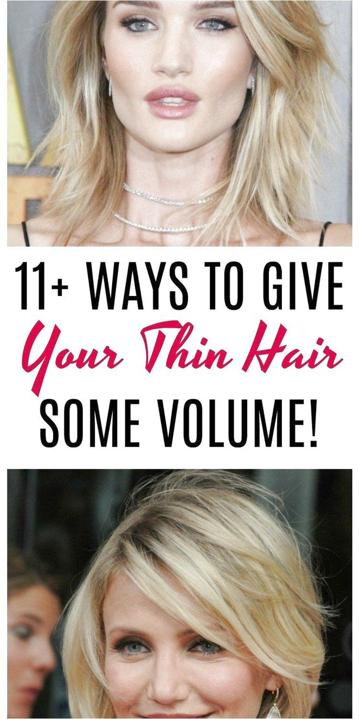 11  ways to give your thin hair volume: Are you tired of flat, lifeless hair Gals with thin hair are always on the hunt for some easy ways to add some...